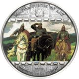Masterpieces of Art – Three Bogatyrs (Viktor Vasnetsov) – Cook Islands – 2010 – 20 Dollars – 3 oz silver coin