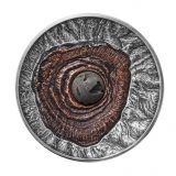 Volcano Vesuvius Pompeii – Niue – 2015 – 2 Dollars – 2 oz silver coin with volcanic lava