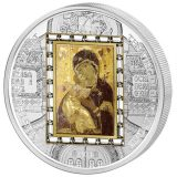 Masterpieces of Art – Vladimir Virgin – Cook Islands – 2013 – 20 Dollars – 3 oz silver coin with gold (PREMIUM EDITION)