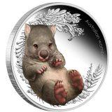 Australian Bush Babies: Australian Wombat – 2013 – Australia – 50 Cents – coloured silver coin