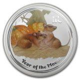 Oriental Calendar: Year of the Mouse – 2008 – Australia – 1 Dollar – coloured silver coin