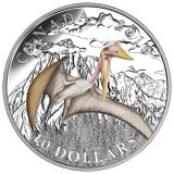 Day of the Dinosaurs: Quetzalcoatlus – Terror of the Sky – 2016 – Canada – 10 Dollars – coloured silver coin