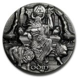Legends of Asgard: Odin – Tokelau – 2016 – 1 Dollars – 3 oz silver coin with max relief