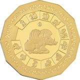 Year of Pig – 500 Tenge – 2019 – Kazakhstan – gold coin