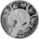 Sable (Martes Zibellina) – 200 Tenge – 2018 – Kazakhstan – melchior coin (proof-like)