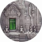 TIFFANY ART: Angkor Khmer Temple – Palau – 2019 – 10 Dollars – 2 oz silver coin with tiffany glass